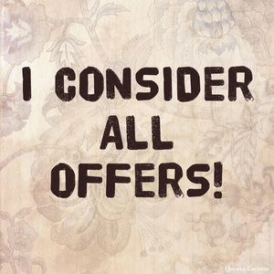All offers considered